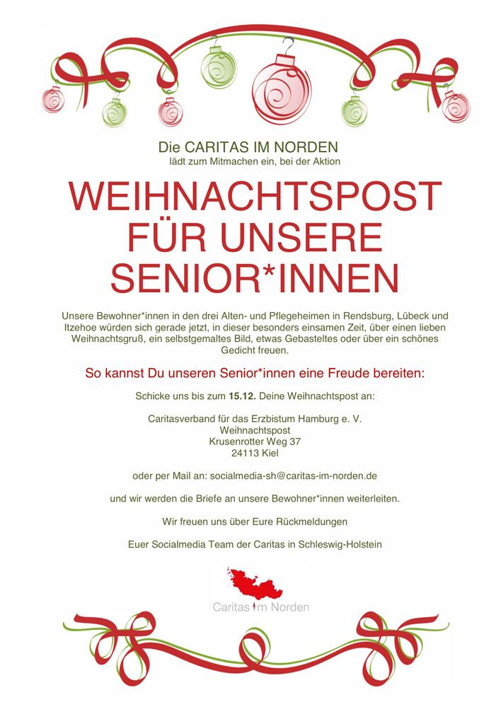 Weihnachtspost für Senior_innen